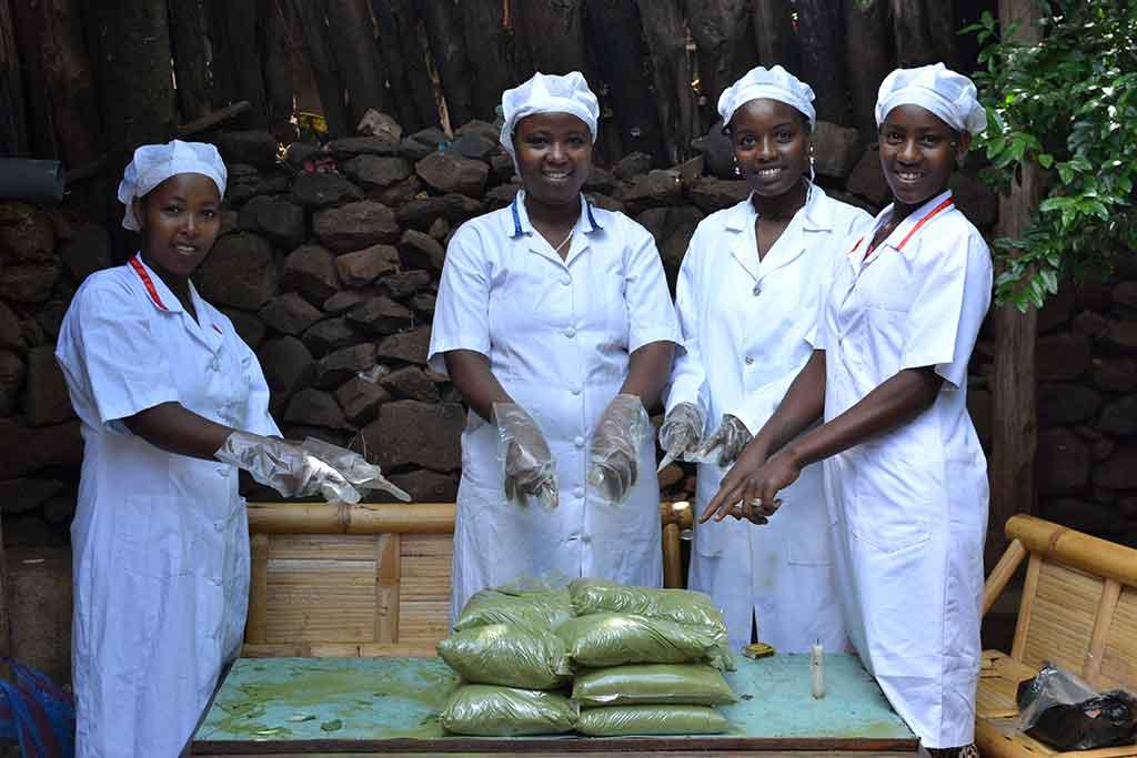 Trabajadoras de la fábrica de Moringa en Konso